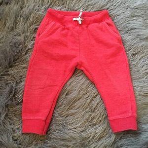 Zara baby boy red sweats